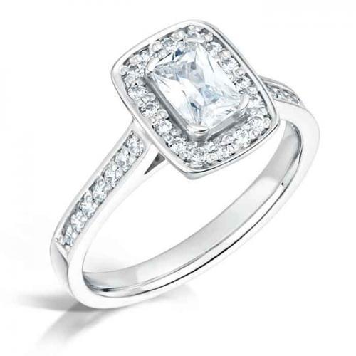 radiant celeste halo engagement ring