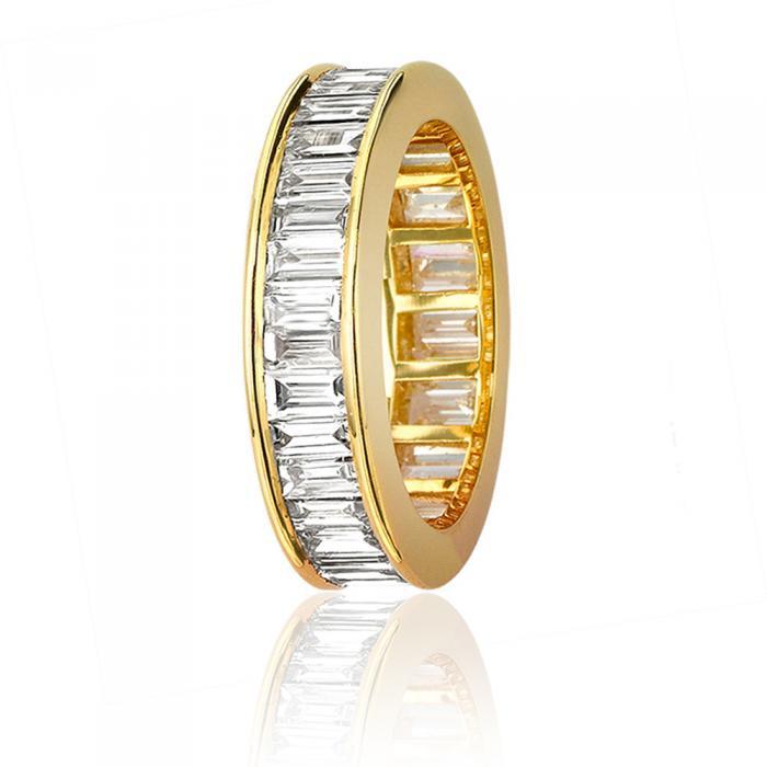 5mm Baguette Cut Diamond Full Eternity Ring