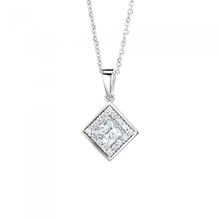Princess cut diamond pendant celeste princess cut diamond pendant aloadofball Images